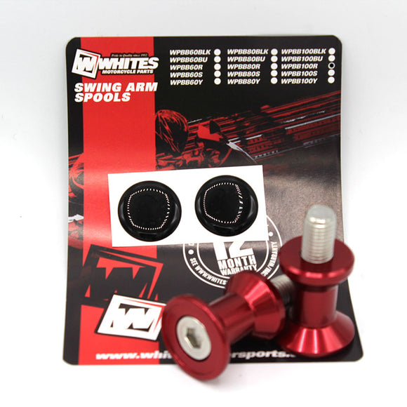 WHITES SWING ARM SPOOLS - ALLOY M10 RED BB-100R