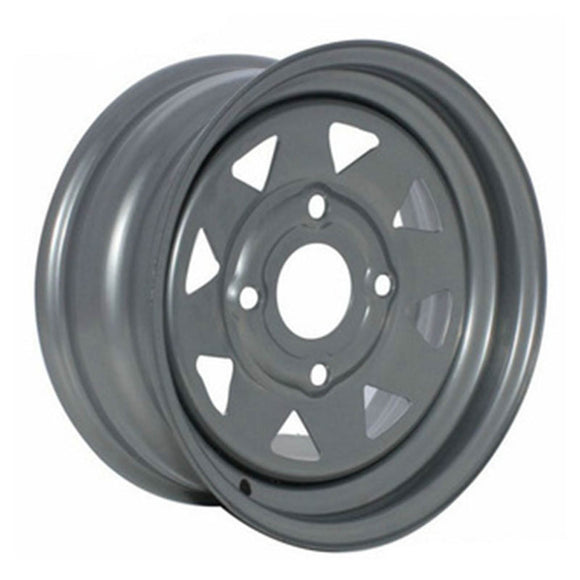WHITES ATV STEEL RIM 8SPOKE 12 X 7 FRNT & RR 4/137 4+3 CANAM