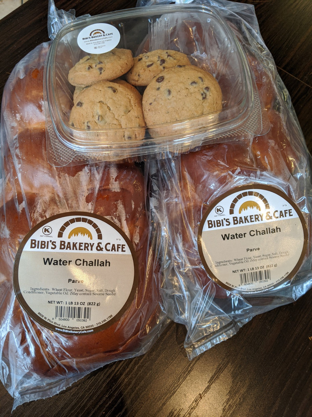 Large Water Challah Shabbundle (2 large + cookies)
