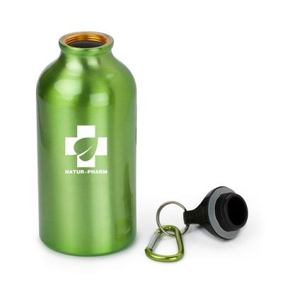Personalised sports bottle 400 ml with carabiner