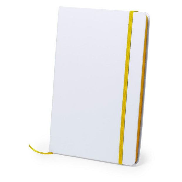 Personalised A5 notebook yellow