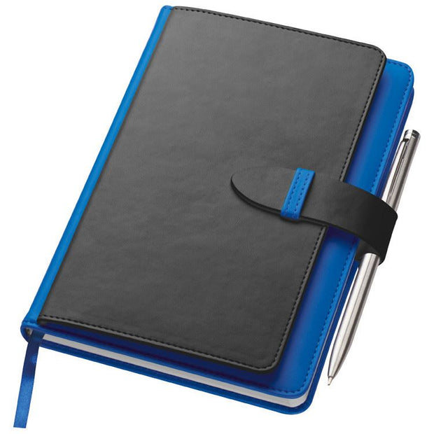 Personalised A5 Notebook with Buisness Card Holder