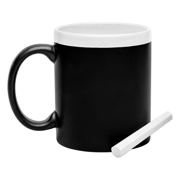 Personalised 300 ml mug with black panel for drawing