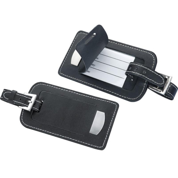 Bonded-leather luggage tag