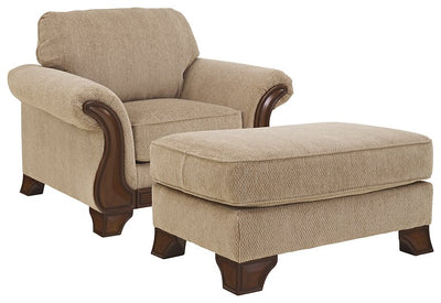 Lanett Signature Design 2-Piece Chair & Ottoman Set