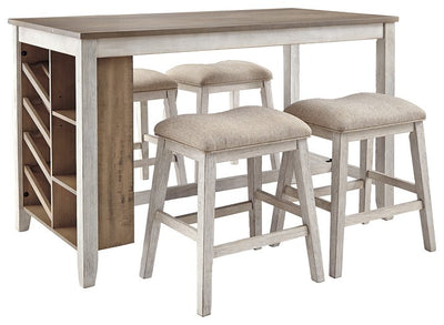 Skempton Signature Design Counter Height 5-Piece Dining Room Set