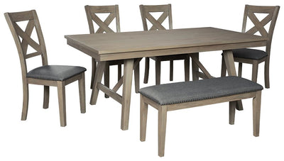 Aldwin Signature Design 6-Piece Dining Room Package