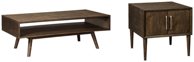 Kisper Signature Design 2-Piece Table Set
