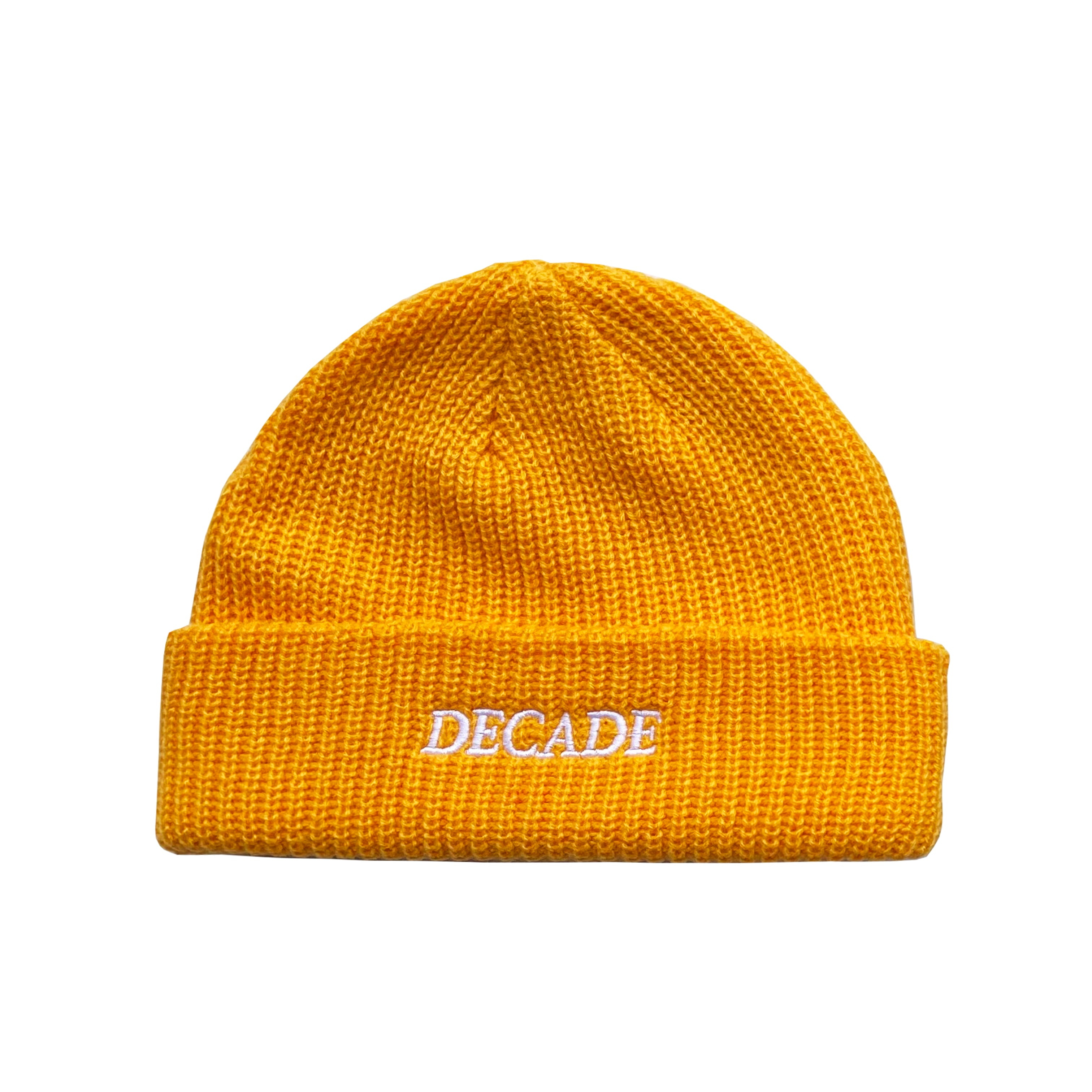 Decade Cable Beanie - Mustard