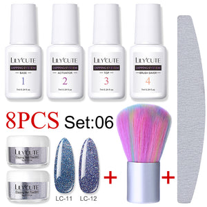 Dipping Nail Glitter Powder Kits