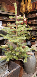 3ft pine tree with burlap base.