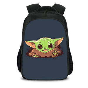 Baby Yoda School Bag 40CM Large Capacity Double Layer