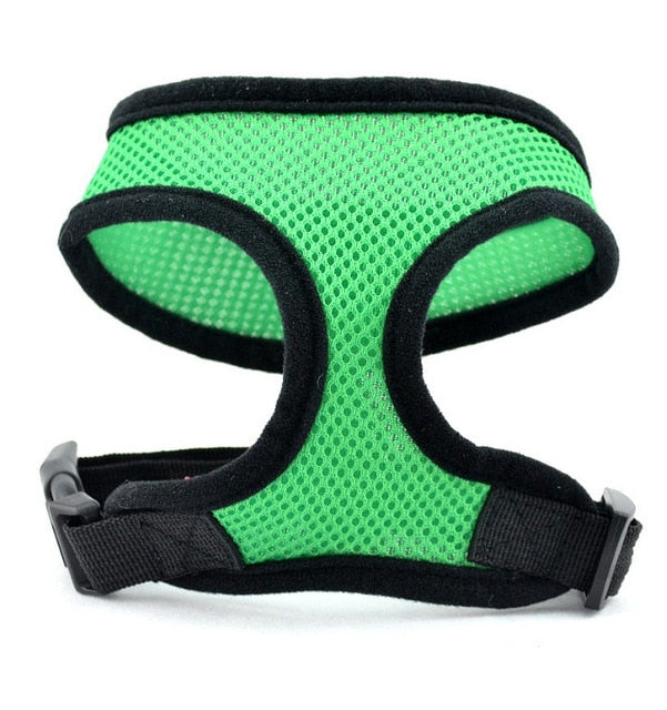 1PC Adjustable Soft Breathable Dog Harness Nylon Mesh Vest Harness for Dogs Puppy Collar Cat Pet Dog Chest Strap Leash