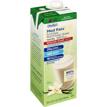 Load image into Gallery viewer, Oral Supplement Med Pass® Reduced Sugar Vanilla Flavor Ready to Use 32 oz. Carton