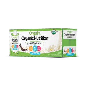 Oral Supplement Orgain® Organic Nutritional Shake Sweet Vanilla Bean Flavor Ready to Use 11 oz. Carton