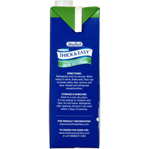 Thickened Beverage Thick & Easy® Dairy 32 oz. Carton Milk Flavor Ready to Use Nectar Consistency