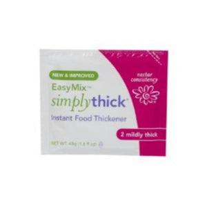 SimplyThick® Easy Mix™ Food and Beverage Thickener, Nectar Consistency, Unflavored 48 Gram Packet