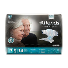 Load image into Gallery viewer,  Unisex Adult Incontinence Brief Attends® Premier Medium Disposable Heavy Absorbency