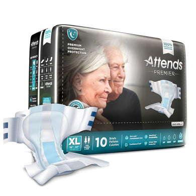 Unisex Adult Incontinence Brief Attends® Premier X-Large Disposable Heavy Absorbency