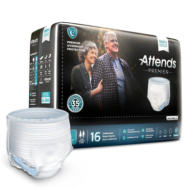 Unisex Adult Absorbent Underwear Attends® Premier Pull On with Tear Away Seams Large Disposable Heavy Absorbency