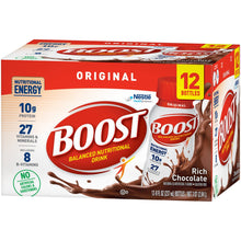 Load image into Gallery viewer, Oral Supplement Boost® Original Rich Chocolate Flavor Ready to Use 8 oz. Bottle