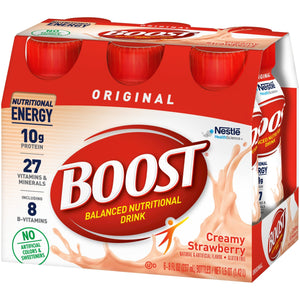 Oral Supplement Boost® Original Creamy Strawberry Flavor Ready to Use 8 oz. Bottle