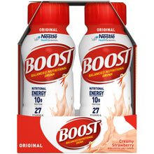 Load image into Gallery viewer, Oral Supplement Boost® Original Creamy Strawberry Flavor Ready to Use 8 oz. Bottle