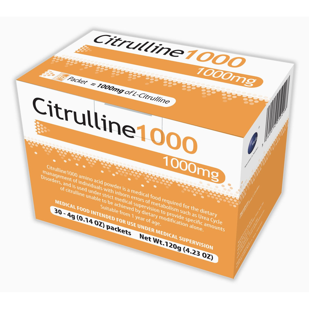 Citrulline1000 Unflavored Amino Acid Oral Supplement, 4 Gram Individual Packet