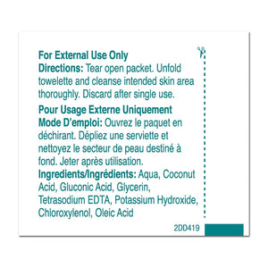 Personal Wipe PDI® Castile Soap Individual Packet Water / Coconut Acid / Potassium Hydroxide Scented 100 Count