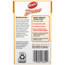 Load image into Gallery viewer, Oral Supplement Boost® Breeze® Orange Flavor Ready to Use 8 oz. Carton