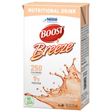 Load image into Gallery viewer, Oral Supplement Boost® Breeze® Peach Flavor Ready to Use 8 oz. Carton