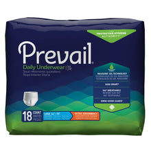 Load image into Gallery viewer,  Unisex Adult Absorbent Underwear Prevail® Daily Underwear Pull On with Tear Away Seams Large Disposable Moderate Absorbency