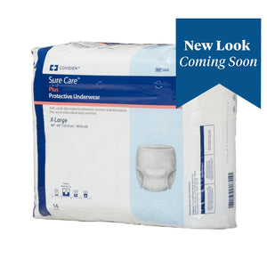 Unisex Adult Absorbent Underwear Sure Care™ Plus Pull On with Tear Away Seams X-Large Disposable Heavy Absorbency