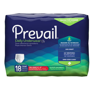 Unisex Adult Absorbent Underwear Prevail® Pull On with Tear Away Seams Small / Medium Disposable Heavy Absorbency