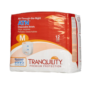 Unisex Adult Incontinence Brief Tranquility® ATN Medium Disposable Heavy Absorbency