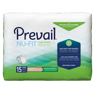 Unisex Adult Incontinence Brief Prevail® Nu-Fit® X-Large Disposable Heavy Absorbency