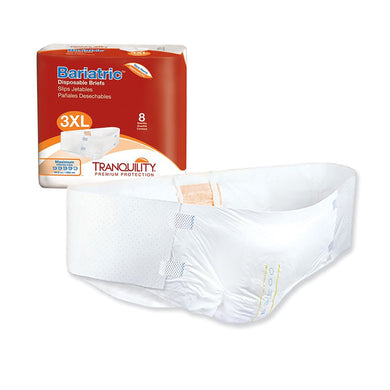 Unisex Adult Incontinence Brief Tranquility® Bariatric 3X-Large Disposable Heavy Absorbency