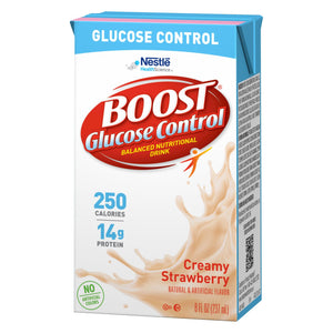 Oral Supplement Boost® Glucose Control® Strawberry Flavor Ready to Use 8 oz. Tetra Brik