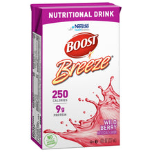 Load image into Gallery viewer, Oral Supplement Boost® Breeze® Wild Berry Flavor Ready to Use 8 oz. Carton