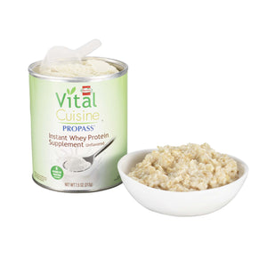 Oral Protein Supplement Vital Cuisine® ProPass® Whey Protein Unflavored Powder 7.5 oz. Can