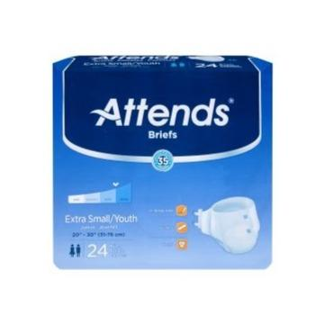 Unisex Youth Incontinence Brief Attends® X-Small Disposable Heavy Absorbency