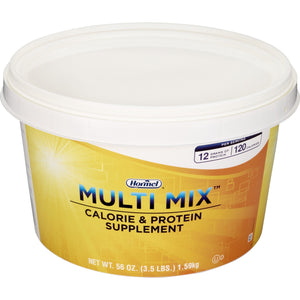 Oral Protein Supplement Multi Mix™ Calorie & Protein Unflavored 3.5 lbs. Tub Powder