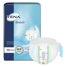 Load image into Gallery viewer,  Unisex Adult Incontinence Brief TENA® Stretch™ Super Medium Disposable Heavy Absorbency