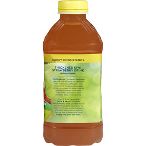 Thickened Beverage Thick & Easy® 46 oz. Bottle Kiwi Strawberry Flavor Ready to Use Honey Consistency