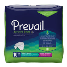 Load image into Gallery viewer,  Unisex Adult Incontinence Brief Prevail® Bariatric Size B Disposable Heavy Absorbency