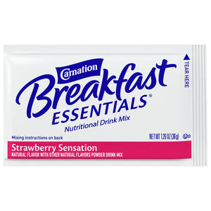 Oral Supplement Carnation® Breakfast Essentials® Strawberry Sensation Flavor Powder 36 Gram Individual Packet