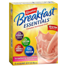 Load image into Gallery viewer, Oral Supplement Carnation® Breakfast Essentials® Strawberry Sensation Flavor Powder 36 Gram Individual Packet
