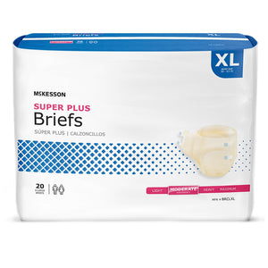 Unisex Adult Incontinence Brief McKesson Super Plus X-Large Disposable Moderate Absorbency