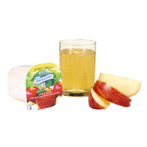 Thickened Beverage Thick & Easy® 4 oz. Portion Cup Apple Juice Flavor Ready to Use Honey Consistency
