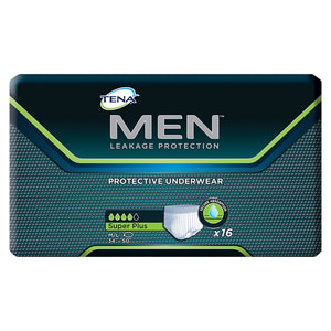 Male Adult Absorbent Underwear TENA® MEN™ Pull On with Tear Away Seams Medium / Large Disposable Moderate Absorbency
